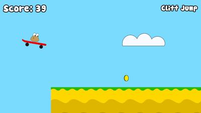 Pou: Minijuego Cliff Jump