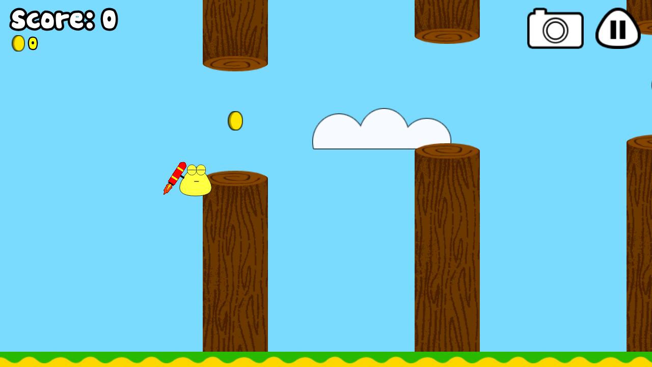 Pou: Minijuego Jet Pou (Tipo Flappy Bird)